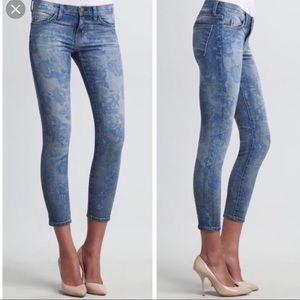 Current/Elliott blue rose jeans size 30